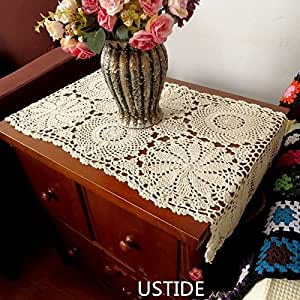 Amazon.com - Ustide Handmade Crochet Tablecloths Rustic