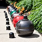 "8"" Large Metal Patio Smudge Pot - Red"