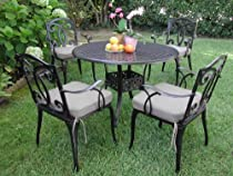 Big Sale Outdoor Cast Aluminum Patio Furniture 5 Pc Dining Set B CBM1290