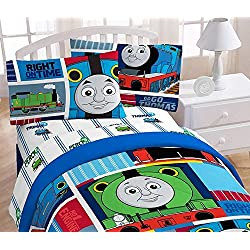 "Thomas the Tank Engine ""Fun"" 39"" x 75"" Twin Sheet Set"