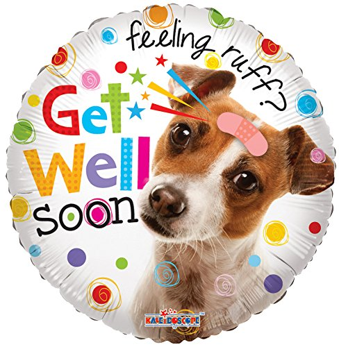 "Conver USA 19520-18SP Get Well Dog Packed Balloon, 18"" - 1"