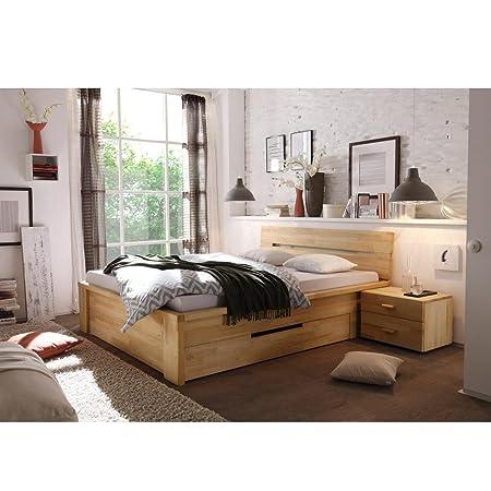 Letto in legno cassetta 180x 200cm in legno massello di faggio massiccio legno 180X 200