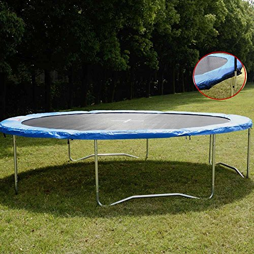 14FT-Spring-Trampoline-Safety-Round-Frame-Pad-Cover-Replacement-Outdoor-Trampoline-Blue-Pad