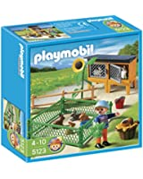 Playmobil - 5123 - Jeu de construction - Enclos à lapins et enfant