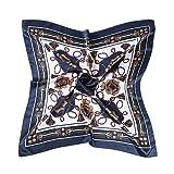 AINO シルク 風 調 スカーフ レトロ調 90cm 角正方形 大判正方形 スカーフ 贈り物 ギフト 母の日 プレゼント 8