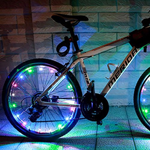 LEDMO LED Colorful Wheel Lights, Super Bright Bicycle Bike Rim Lights, Perfect for Safety and Fun Multicolor - Battery (Rim Bike compare prices)