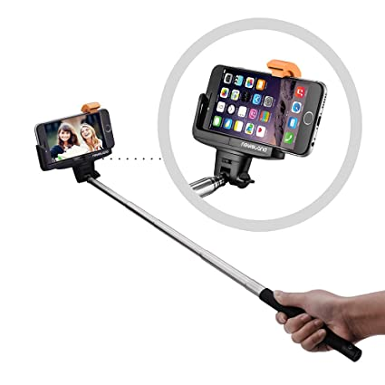 Selfie Stick, Newisland® Pro 3-In-1 Bluetooth Self-portrait Monopod Extendable Selfie Stick with Built-in Remote Shutter with Adjustable Phone Holder for iPhone 6, iPhone 6 Plus, iPhone 5 5s 5c, Android (Black)