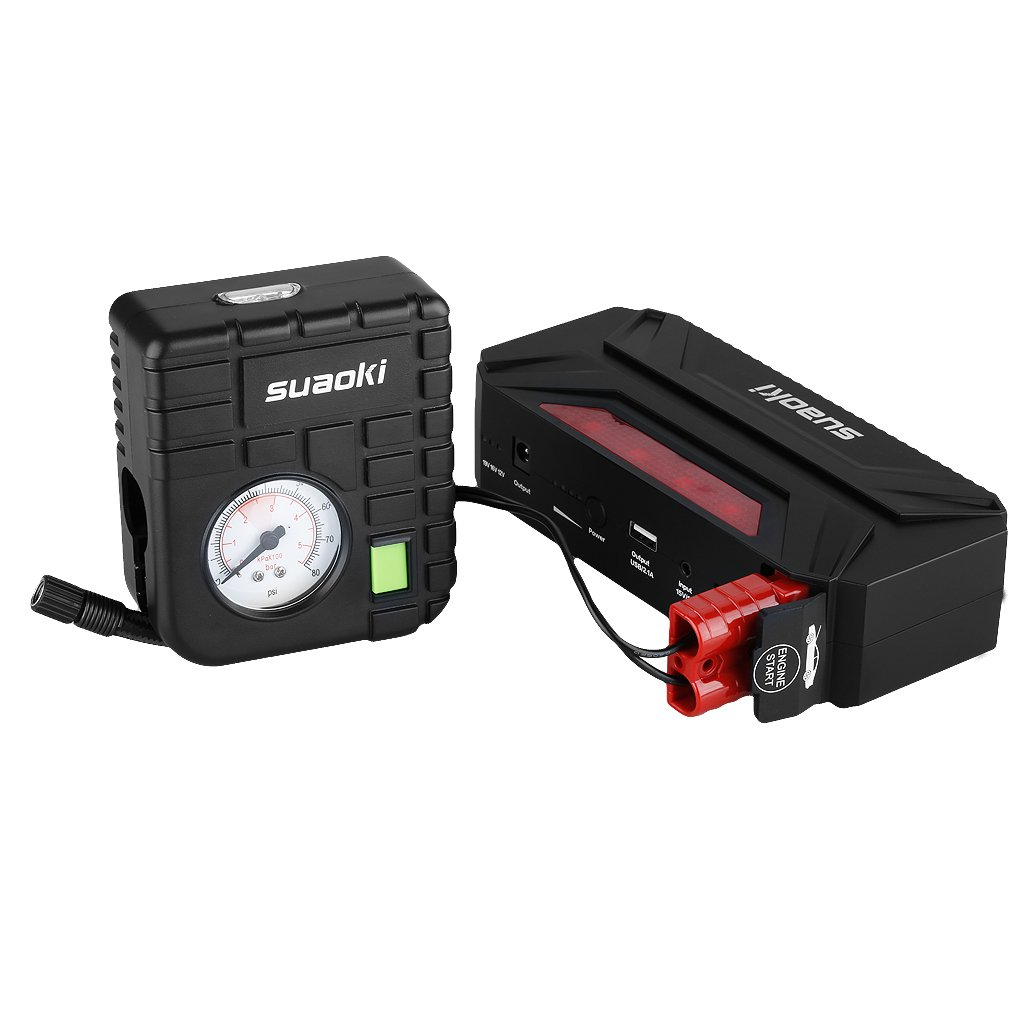 Suaoki 18000mAh 600A T3 Plus Jump Starter + Air Compressor Pump
