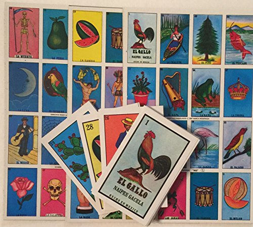 Authentic Loteria Mexican Bingo - 10 Boards, Deck Of Cards Fun And Educational