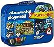 Schmidt - 55599 - Puzzle - Playmobil - Coffret de Puzzles 2X60 - 2X100 Pi�ces