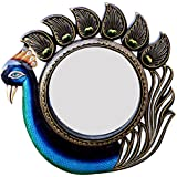 Ghanshyam Art Wood Peacock Wall Mirror (30.48 Cm X 4 Cm X 30.48 Cm, GAC097)