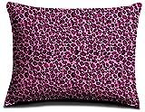 Effortless Bedding Plush Pillow Case, King Size, Pink Leopard