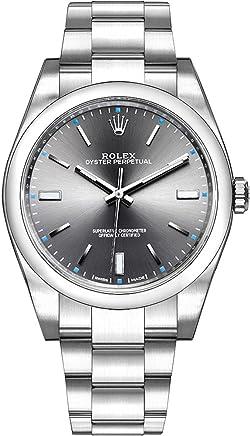 ROLEX 腕時計 オイスター パーペチュアル39 ダークロジウムバー 114300