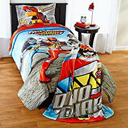 Power Rangers Dino Charge Boys Twin Comforter & Sheets (4 Piece Bed In A Bag) + HOMEMADE WAX MELT
