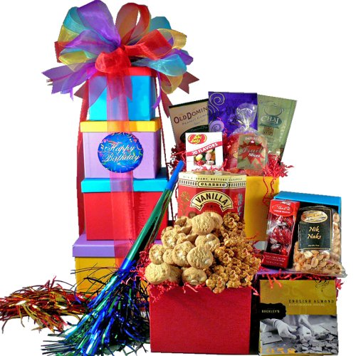 Happy Birthday Gift Tower By Gourmetgiftbaskets Com: Unique Candy Gifts