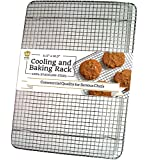UltraCuisine 100% Stainless Steel Wire Cooling Rack for Baking: Oven Safe fits Half Sheet Cookie Pan
