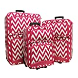 Luggage 3pc Chevron Pk
