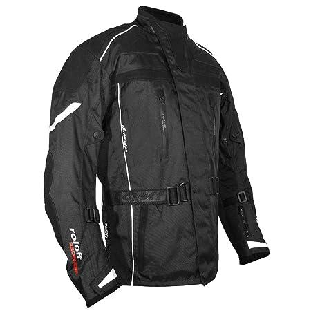 Roleff Racewear 5385 Blouson de Moto  Valetta en Tissu/Cuir Noir