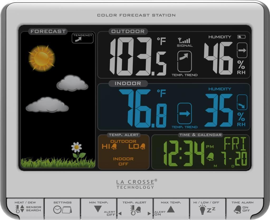 Amazon.com - La Crosse Technology 308-1412S Color LCD Wireless Weather Station with USB Charging