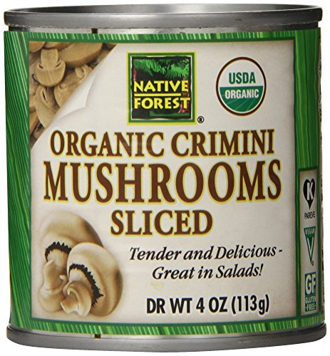 Native Forest Organic Sliced Crimini Mushrooms, 4-Ounce Cans (Pack of 12) (Can Mushroom compare prices)