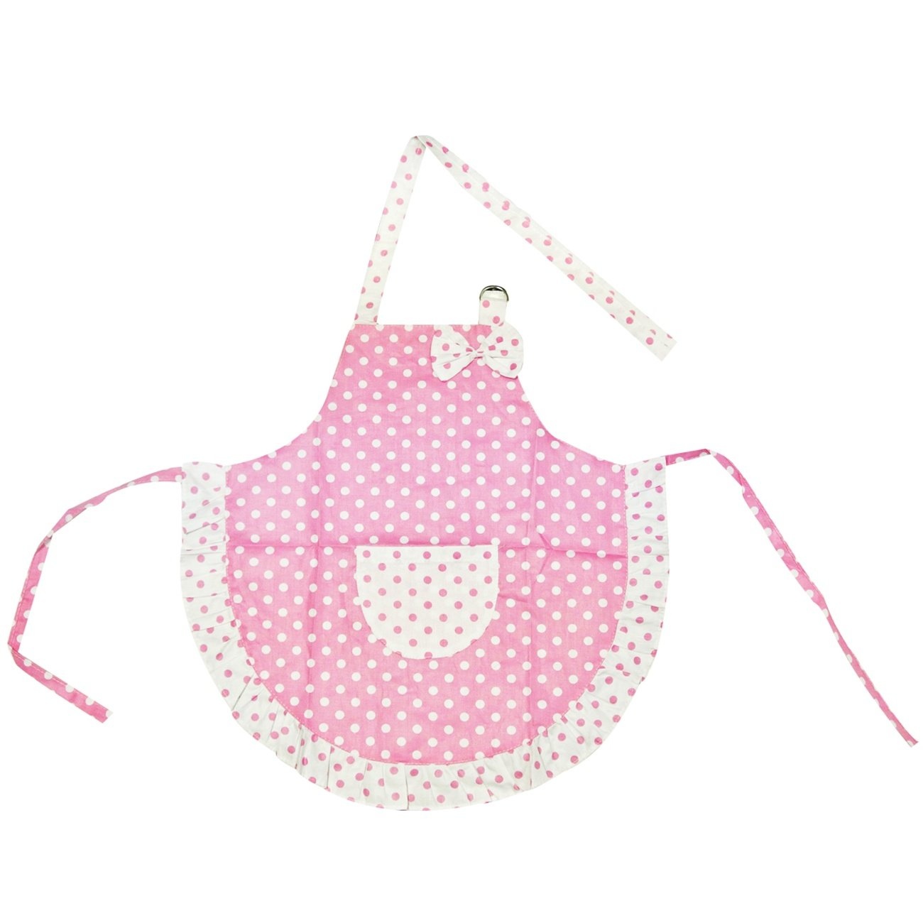 White ruffle apron amazon - Buy Kella Milla Kids Apron And Hat Set Polka Dots And Ruffles Pink Online At Low Prices In India Amazon In