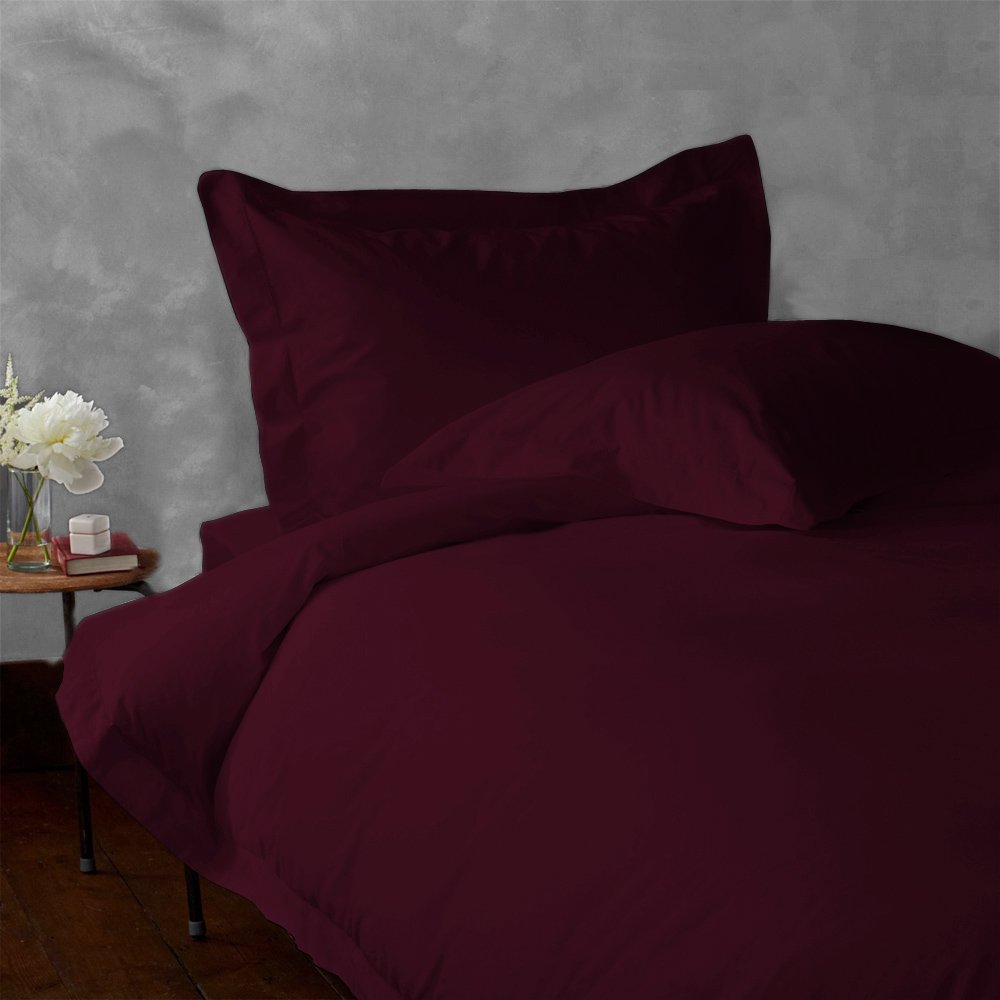 LACASA BEDDING 400 TC Egyptian cotton Fitted sheet 18 Extra Deep Pocket Italian Finish Solid ( Twin XL , Wine ) наволочка к детскому эргономическому матрасику cocoonababy s 3 fitted sheet s3 fdc powder blue