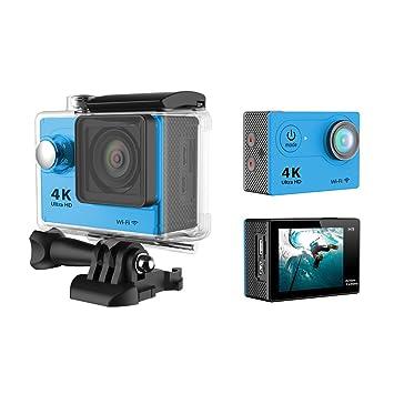 Yeholding 4K Caméra Super Sport - 4K Ultra Mini DV Action Sport HD 1080P WiFi-grand angle de 170 degrés - pour Drone Auto Ski Alpinisme Escalade Plongée