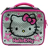 Hello Kitty Lunch Bag, Silver Hello Kitty Tote Lunchbox