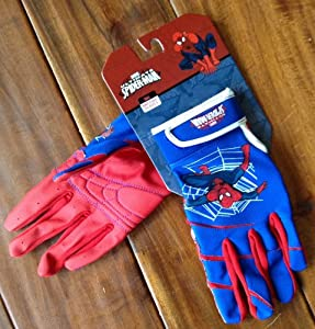 Buy Easton Ultimate Spider-Man Youth Baseball Batting Gloves - size M L by Easton