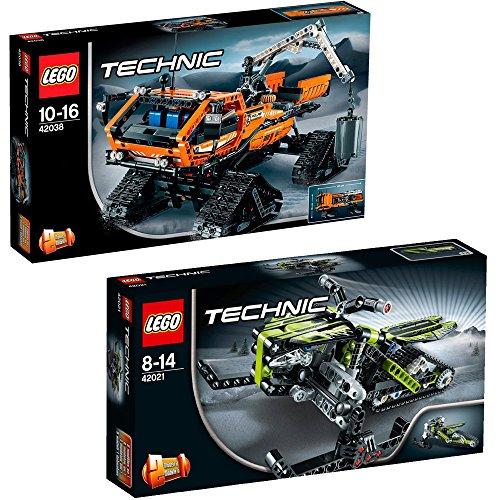 Lego Technic 2er Set 42021 42038 Schneemobil Arktis Kettenfahrzeug