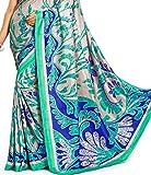 Samskruti Sarees Womens Chiffon Saree (SPAS-8588_Blue)