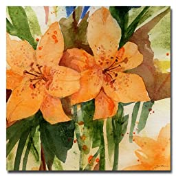 Trademark Fine Art Tiger Lilies by Sheila Golden, 24x24 inches