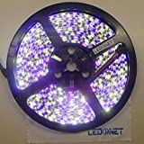 LEDENET® 16.4ft (5m) 5050 300LEDs RGB+Warm WHITE Flexible RGBW Waterproof LED Strip Lighting Kit 5M RGBWW Strip Black PCB Board