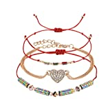 Clearance! Hot Sale! ? Temperament Crystal Multicolor Multi-Layer Creative Tassel Adjustable Bracelet Under 5 Dollars Valentine's Day Gifts for Girlfriend/Boysfriend 2019 New (Color: D)