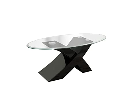 Furniture of America Madera High-Gloss Lacquer Coffee Table, Black