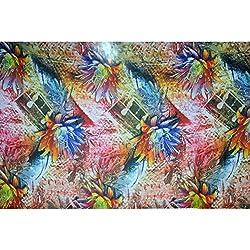 Triveni GEORGETTE Fabrics (TSFD007_OFF WHITE)