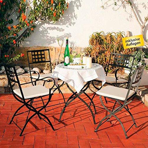 Gärtner Pötschke Sitzgruppe Große Runde Casablanca inkl. Auflagen jetzt kaufen