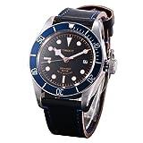 41mm Corgeut Watch Sapphire Glass Rotating Bezel Miyota 8215 Mechanical Automatic Mens (Color: black, Tamaño: 41mm)