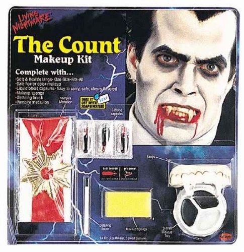 Fun World 'Vampiress Makeup Kit' Halloween Accessory, Red/Black - 1