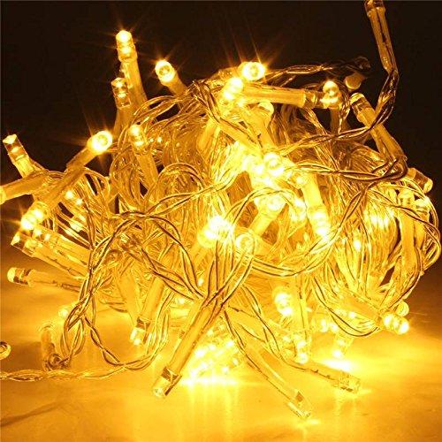 SOLMORE 20M 200 LED String Dekorative Strip Lichterkette Weihnachtsbeleuchtung für Weihnachten Party 220V WarmWeiß