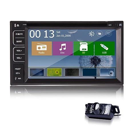 "6.2 ""Dans dash Double StšŠršŠo DVD 2 Din GPS lecteur iPod Radio Bluetooth + CamšŠra"