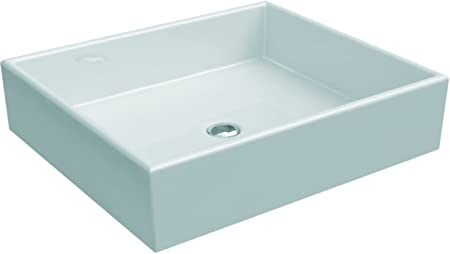 Ideal Standard Vanity Top K077601, White, H: 135, B: 500, T: 420, without Tap Hole, No Overflow