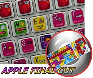 APPLE FINAL CUT KEYBOARD STICKERS