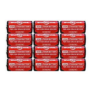 2 X Surefire 6 Pack 123A Lithium Batteries