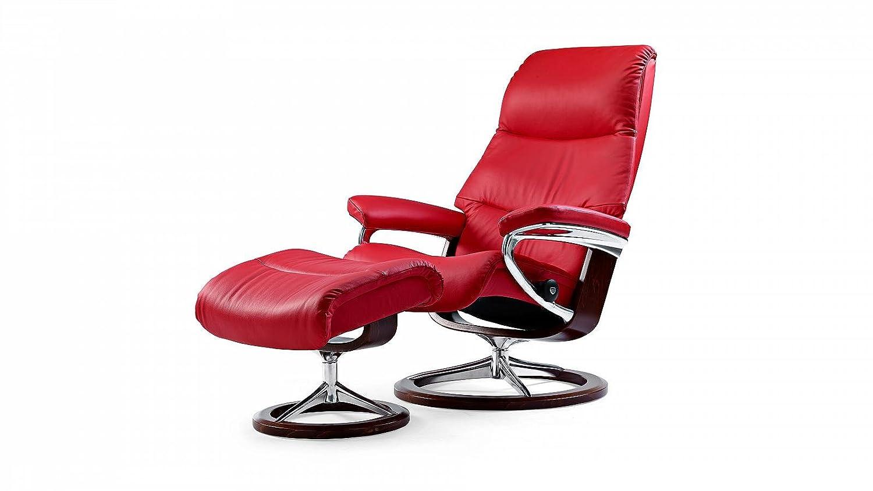 Stressless® View Sessel mit Hocker (M) Rot günstig günstig kaufen