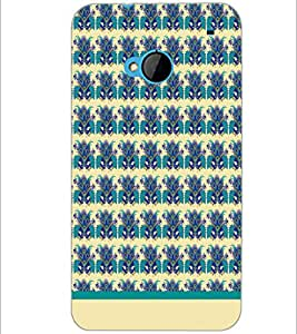 PrintDhaba Floral Pattern D-1498 Back Case Cover for HTC ONE M7 (Multi-Coloured)