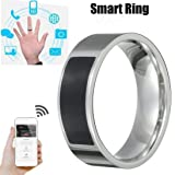 SUKEQ Multifunctional NFC Smart Ring, 2018 New Waterproof Intelligent Magic Smart Ring Universal Wear Finger Digital Ring for Samsung, Huawei, Millet and NFC Cellphone Mobile Phone (11#) (Tamaño: 11 #)