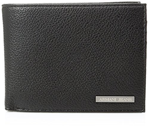 Armani-Jeans-Mens-Pu-Tri-Fold-Wallet-with-Logo-Plate