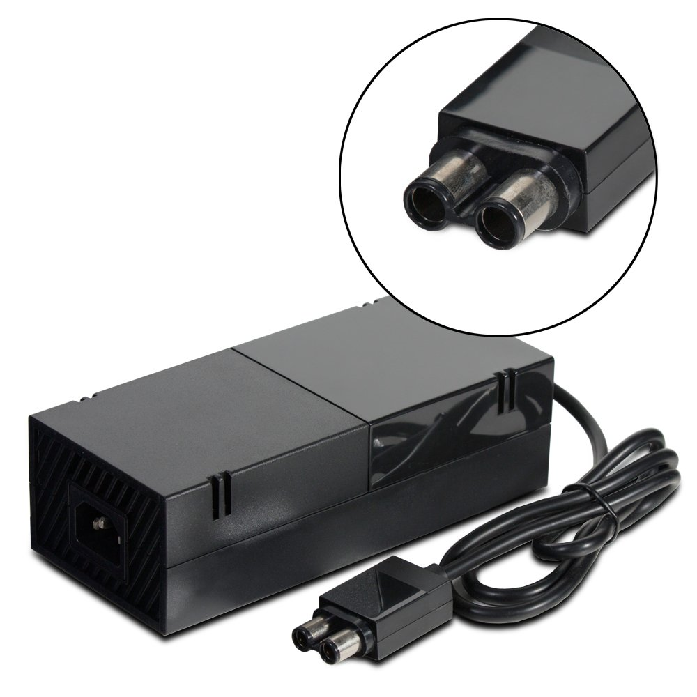 Fosmon AC Adapter Power Supply Cord for Microsoft Xbox ONE (Output: 150W, 12V 10A) - Includes Charging Brick & Cable with US Plug (Input: AC 100-240V) power supply for pwr 7200 ac 34 0687 01 7206vxr 7204vxr original 95%new well tested working one year warranty