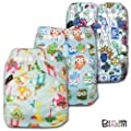 Little Bloom, Reusable Pocket Cloth Nappy, Fastener: Popper, Set of 3, Boy Patterns 312, Without Insert